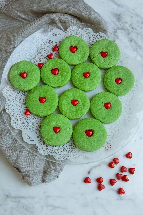 Grinch Sugar Cookies. (Gluten/ Grain/ Egg/ Nut/ Dairy Free)