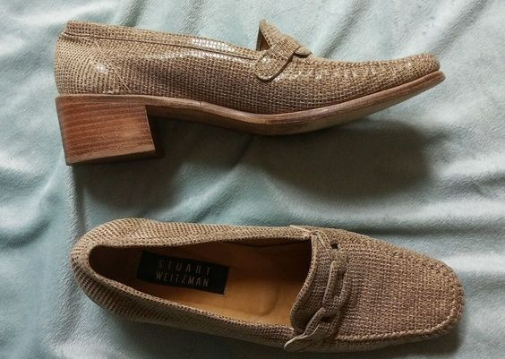 Stuart Weitzman Womens 8.5 Tan loafers WOW #StuartWeitzman #LoafersMoccasins