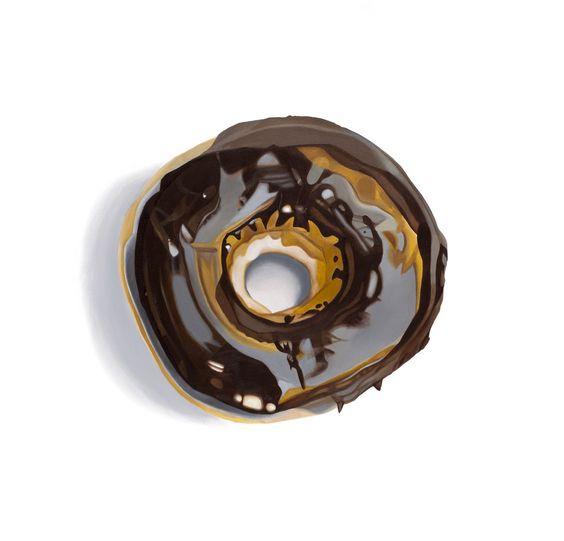 "ERIN ROTHSTEIN, The Tasting Room - ""Donut"", 2016, Acrylic on canvas, 36 x 36 inches, 91 x 91 cm"