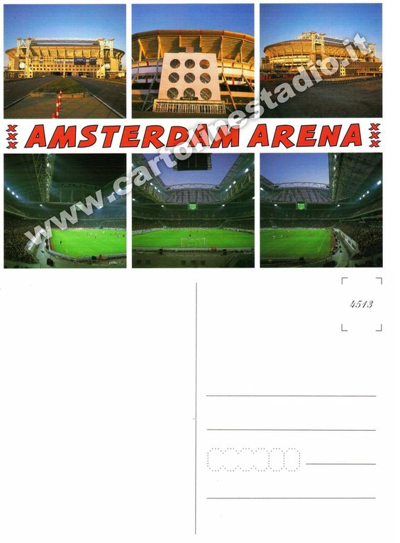 € 0,70 - code : NED-016 - AMSTERDAM ArenA - stadium postcard cartolina stadio carte stade estadio tarjeta postal Under Constraction