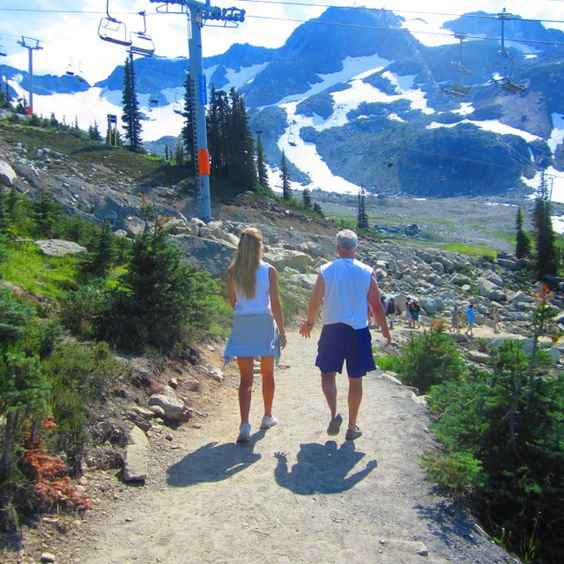 Hiking atop Whistler in August