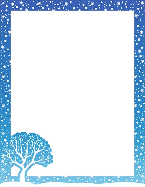 Printable winter border. Free GIF, JPG, PDF, and PNG downloads at http ...