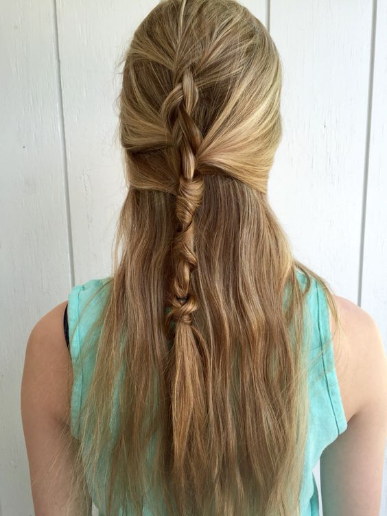 Unique, cool, rope-like braid. Very casual and trendy  || Hair by Kayla Johnson