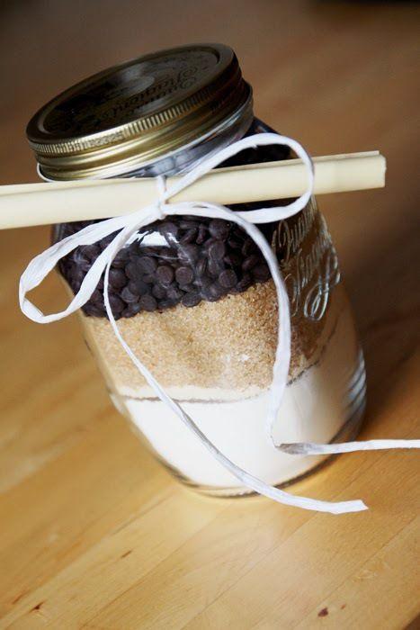 Geschenkidee - Backmischung für Chocolate Chip Cookies selbstgemacht