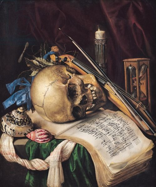 centuriespast: Vanitas (oil on canvas) creator Saint-Andre, Simon Renard de (1613-1677) nationality French location Musee des Beaux-Arts, Marseille, France medium oil on canvas date 17th (C17th):