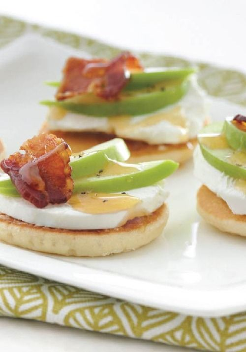Goat cheese apple and bacon canap s are made special with for Canape appetizer