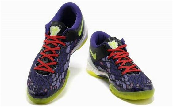 http://www.asneakers4u.com Nike Kobe 8 System Basketball Shoe Snake Purple/Yellow3