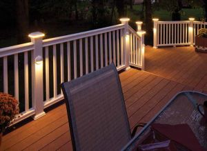 I like the post-mounted lights that point down. I don't like the ones mounted in the deck surface pointing up, or the tops of the posts.