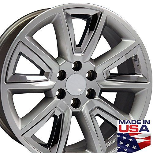 22 Inch Fits Chevrolet Tahoe Aftermarket Wheels Hyper Black