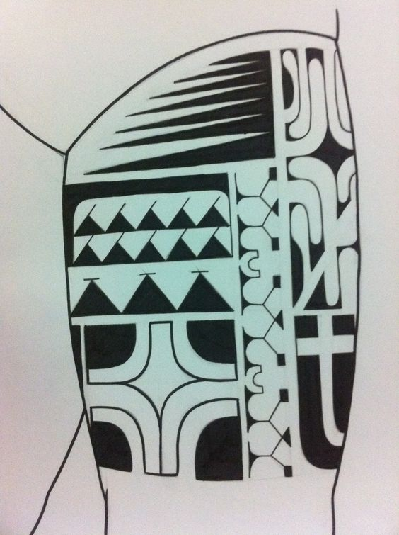 maori tattoo design tattoo pinterest samoanische tattoos tattoos f r m nner und paar. Black Bedroom Furniture Sets. Home Design Ideas