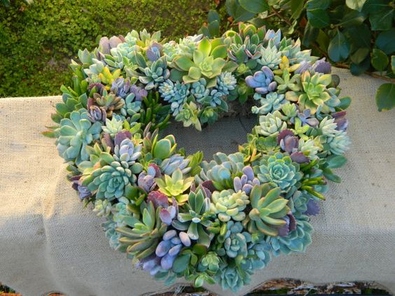 Succulent Wreath Heart