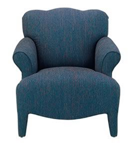 Lush blue and positively plush! This accent chair fits well with eclectic or contemporary style rooms -- all the style without compromising comfort. #interiordesign | Monet Chair cort.com