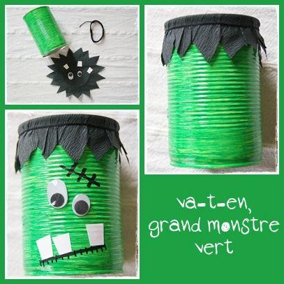 Déco d'halloween monstre vert