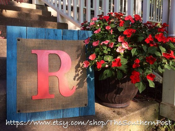 Reclaimed wooden R monogram by TheSouthernPost on Etsy Rustic, Custom, Home Decor