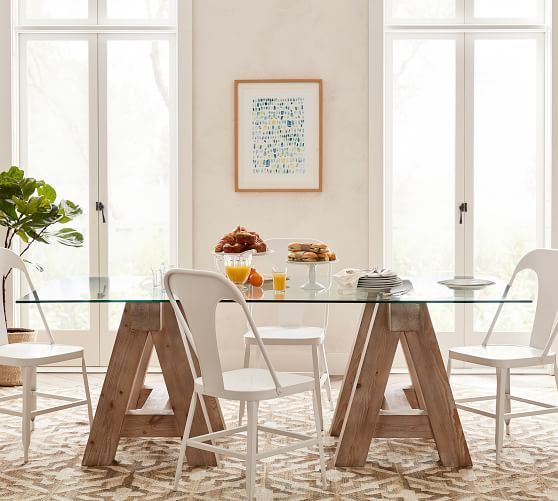 Sawhorse Dining Table Pottery Barn