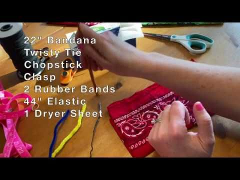 No Sew Diy Face Mask With Bandana Youtube In 2020 Diy Sewing