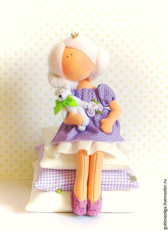 Купить Принцесса на горошине - принцесса, интерьерная кукла, текстильная кукла, ручная работа, девочка: