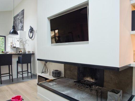 chemin e et t l vision cran plan mural chemin e pinterest tvs google et peintures murales. Black Bedroom Furniture Sets. Home Design Ideas