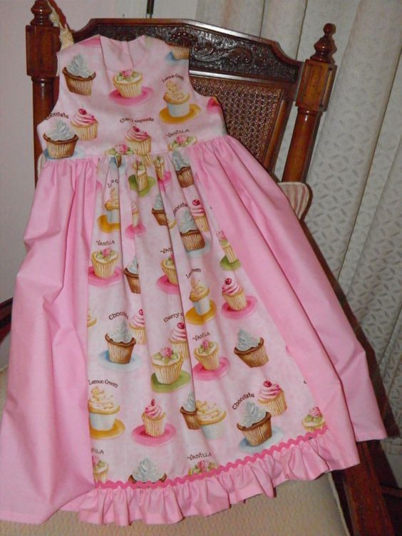 Girls CUPCAKE Party Dress Special Occasion PINK by AnitaDeanSews, $40.00