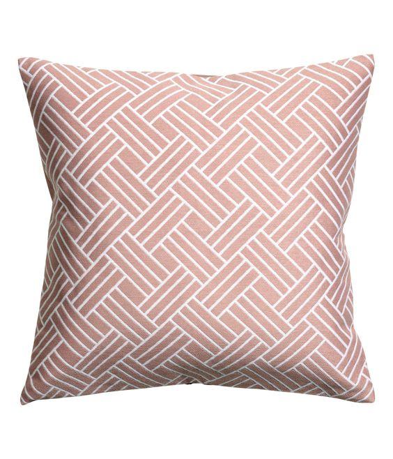 Jacquard cushion cover Mattrosa Home H  M DE #1 - mobrien - wohnzimmer orange beige