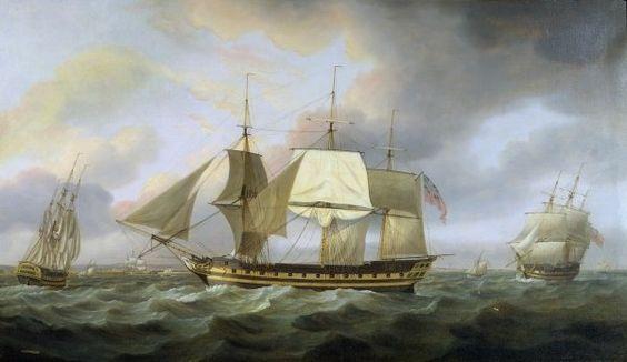 The Honourable E.I. Company's Ship 'Belvedere', Captain Charles Christie Commander, 1800 Posters & Art Prints by Thomas Luny - Magnolia Box