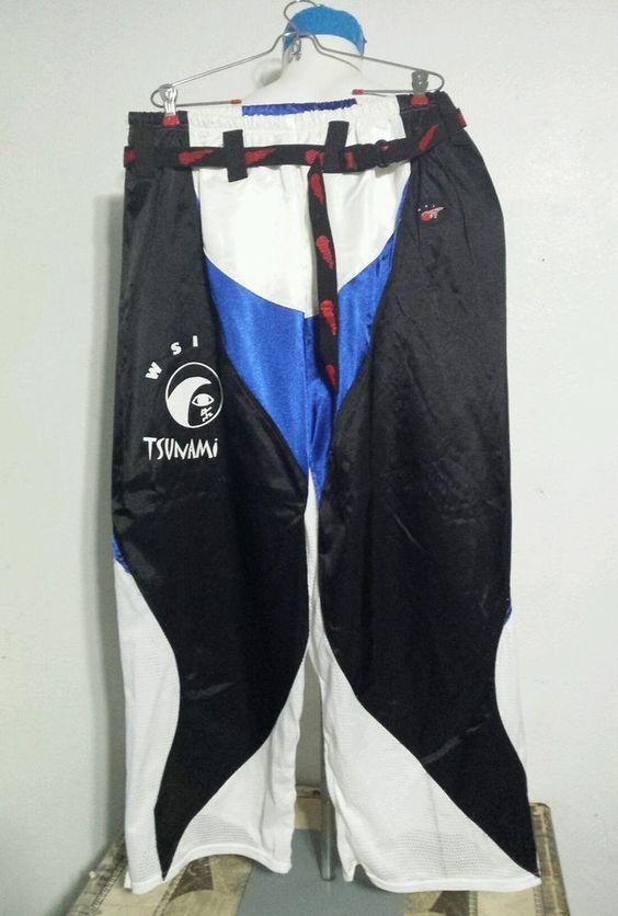 WSI SPORTS Mens L 34-38 Tsunami pants Polyester Surf Martial arts training sport #WSISports #Athletic