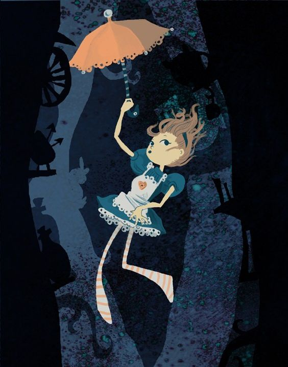 I love Alice in Wonderland and this is a cute picture. Have a look through his other art, some cool things on his page