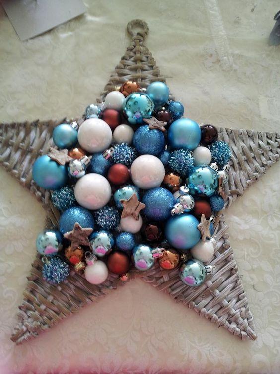 Bekijk de foto van El4 met als titel ster gekocht bij kruidvat 3,99. De kerstballen bij action en zeeman.  Er op gelijmd met een lijmpistool. Erg leuk om te doen. en andere inspirerende plaatjes op Welke.nl.