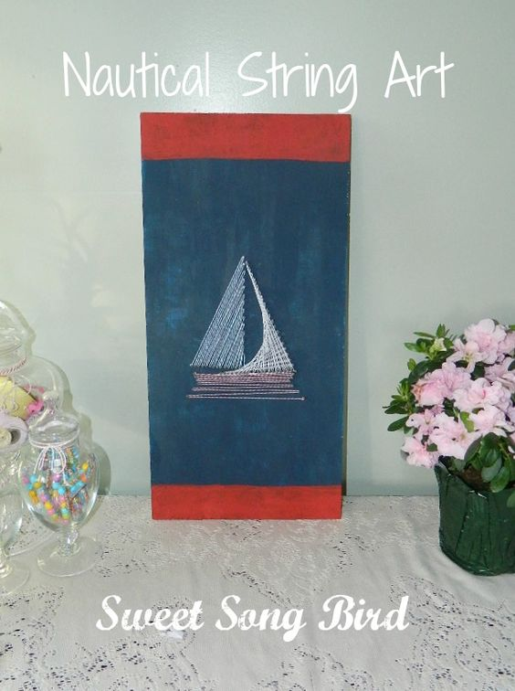 Sweet Song Bird: Nautical String Art