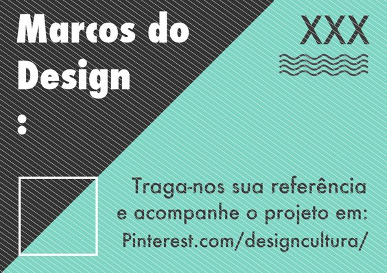 "Cartaz ""Marcos do Design"""