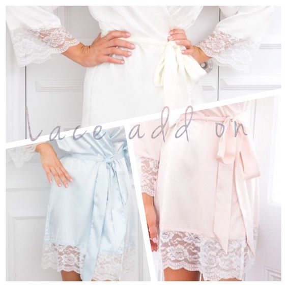 White Lace Add on to satin robes by SandyWatersStore on Etsy https://www.etsy.com/listing/216940706/white-lace-add-on-to-satin-robes