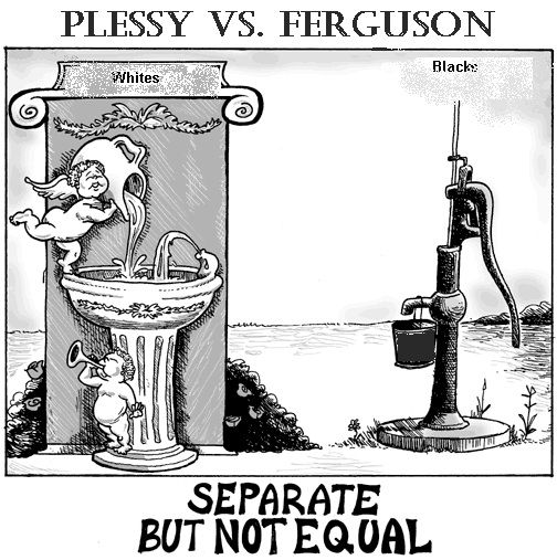 plessy vs ferguson the battle of Supreme court decesions: plessy vs ferguson (1898) figure 1--the supreme court's plessy decesion countenanced the juim crow segregation system that southern state legislatures established after reconstruction.