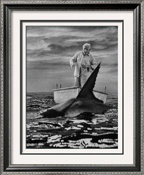 """Spencer Tracy in """"Old Man and the Sea"""" Premium Photographic Print by Ralph Crane at Art.com"""