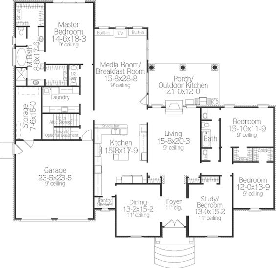 Southern Style House Plans 3281 Square Foot Home 1