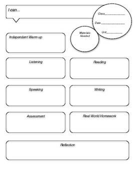 world language lesson plan template - this lesson plan template guides you to include activities