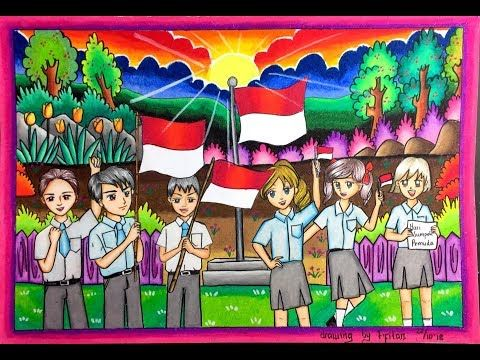 Cara Menggambar Dan Gradasi Warna Oil Pastel Tema Sumpahpemuda Youtube Animal Art Projects Oil Pastel Techniques Elementary Drawing
