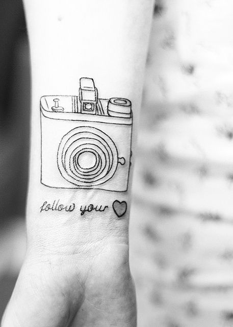 When I get my degree in fine arts (photography), a camera will be inked into my skin somewhere.