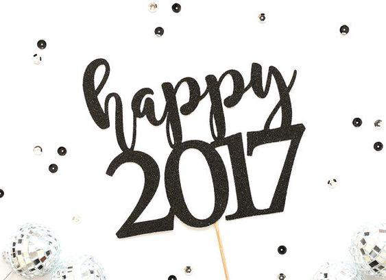 Happy New Year Taart Topper Nieuwjaar Taart Topper New