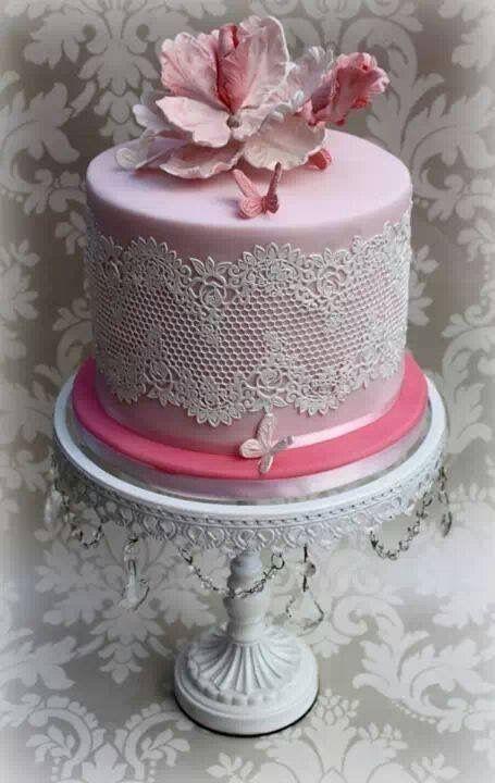15 0 Aud 4 X Edible Ready Made Sugar Laces Anniversary Cake Babyshower Birthday Wedding Ebay Home G Anniversary Cake Wedding Cake Boards Butterfly Cakes