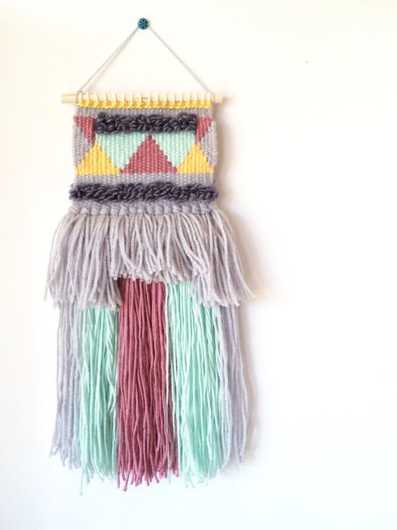 This wall hanging would look lovely in a nursery or a childs room... or anywhere else in your home!  Handmade in a pet-free and smoke-free home.