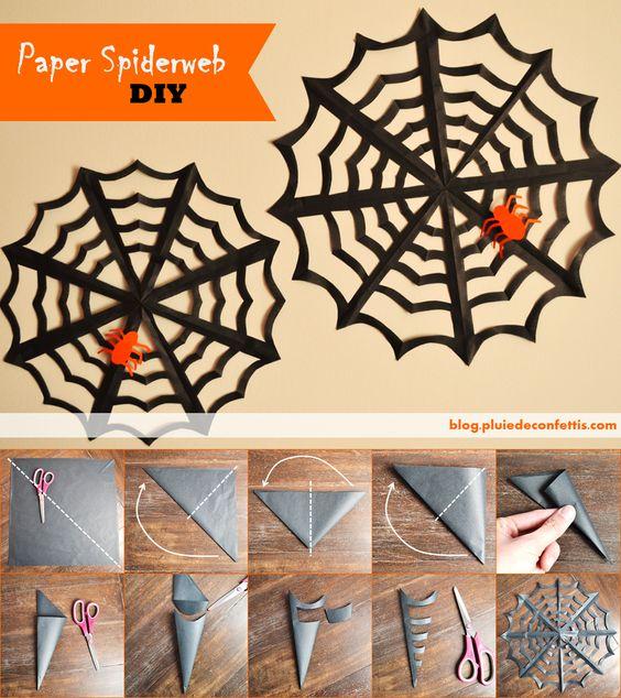 Paper spiderweb DIY