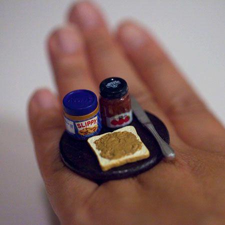 Kawaii Miniature Food Ring Peanut Butter By