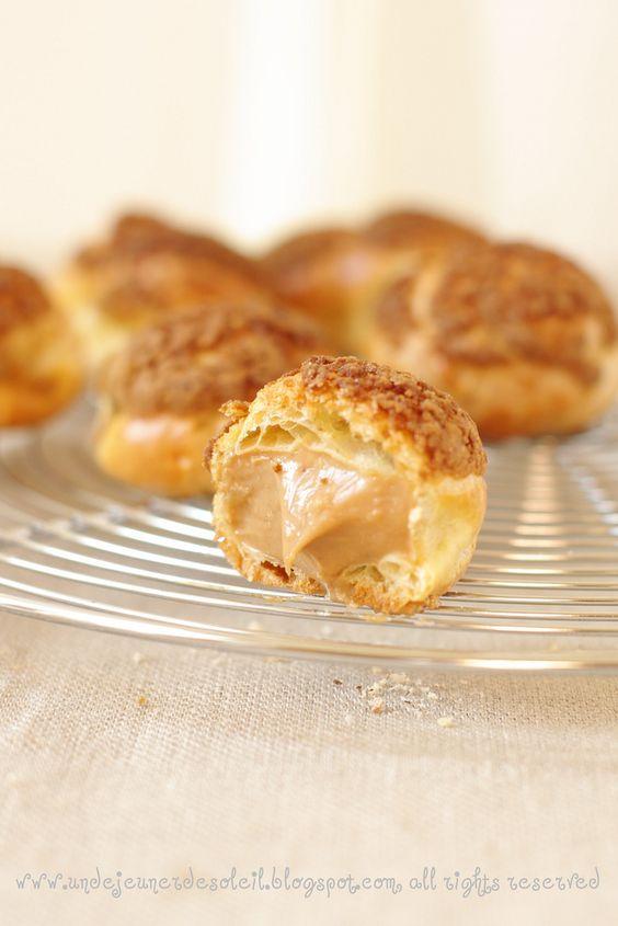 Choux Paris-Brest 1- recette creme praliné (enlever la gélatine, ça marche quand même !!)