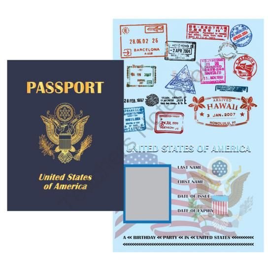Printable Digital PDF File - Play Passport United States from - free passport template for kids