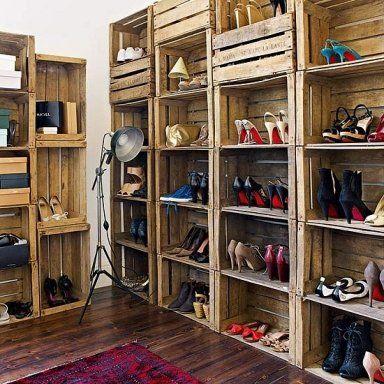Ideas fáciles para guardar los zapatos