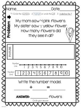 Number Names Worksheets addition problems for kindergarten : Words, Teaching resources and Word problems on Pinterest
