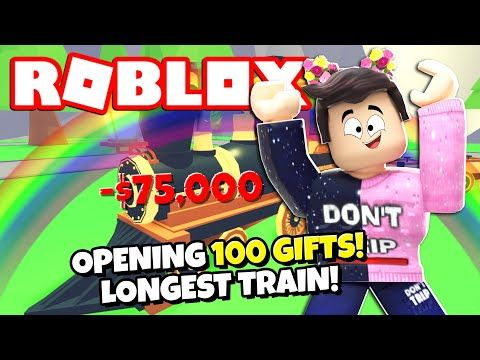 100 Gifts The Longest Legendary Train In Adopt Me New Adopt Me Random Update Roblox Youtube In 2020 Roblox Adoption Gifts