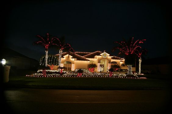"This is a ""candy cane"" style Christmas light display located in Lutz, Florida. The key to designing a great display is creativity. We love to push the envelope with new ideas"