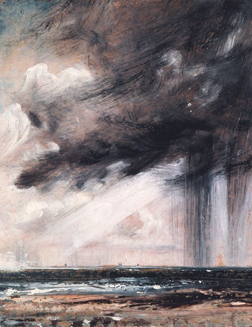Artwork by John Constable - Seascape Study with Rain Cloud ...