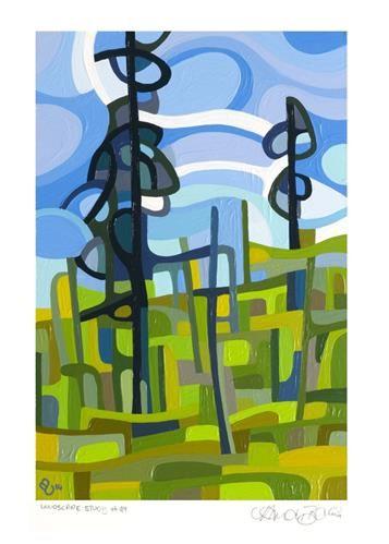 "Daily Paintworks - ""Landscape Study #49"" - Original Fine Art for Sale - © Mandy Budan"